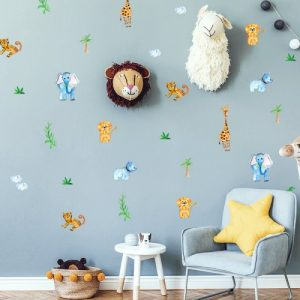 מדבקות קיר גונגל לחדרי ילדים - מיכל נמצוב סטודיו m creative
