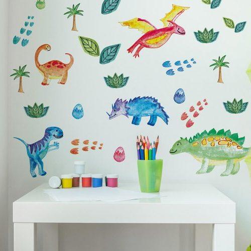 מדבקות קיר דינוזאורים מתוקים לחדרי ילדים2 - מיכל נמצוב סטודיו m creative