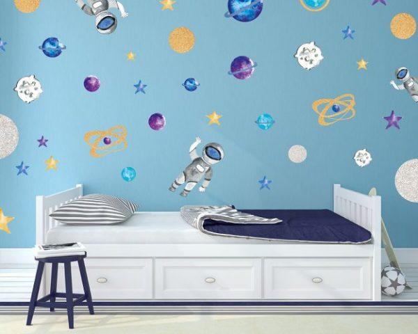 מדבקות קיר חלל לחדרי ילדים - מיכל נמצוב סטודיו m creative
