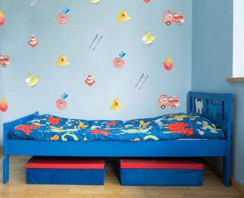מדבקות קיר כבאים לחדרי ילדים - מיכל נמצוב סטודיו m creative