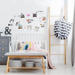 מדבקות קיר סלפי לחדרי ילדים ונוער - מיכל נמצוב סטודיו m creative