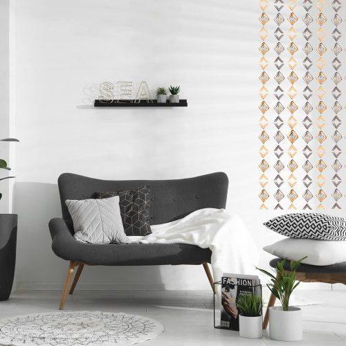 מדבקות קיר אתניות שחור זהוב - מיכל נמצוב סטודיו m creative