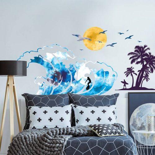 מדבקות קיר גולשים לחדרי ילדים ונוער - מיכל נמצוב סטודיו m creative