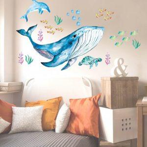מדבקות קיר חיות הים לחדרי ילדים ונוער- מיכל נמצוב סטודיו m creative